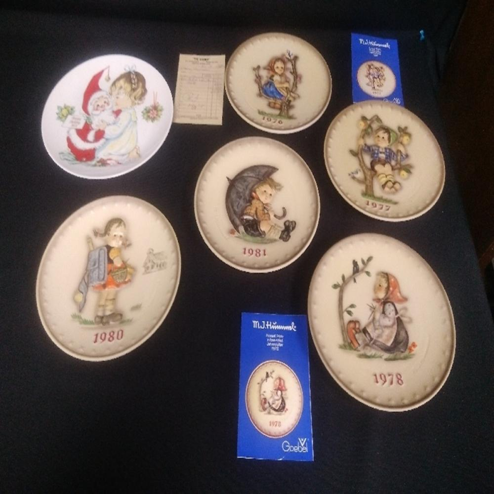 Lot of (6) Hummel Goebel Plates TMK 5