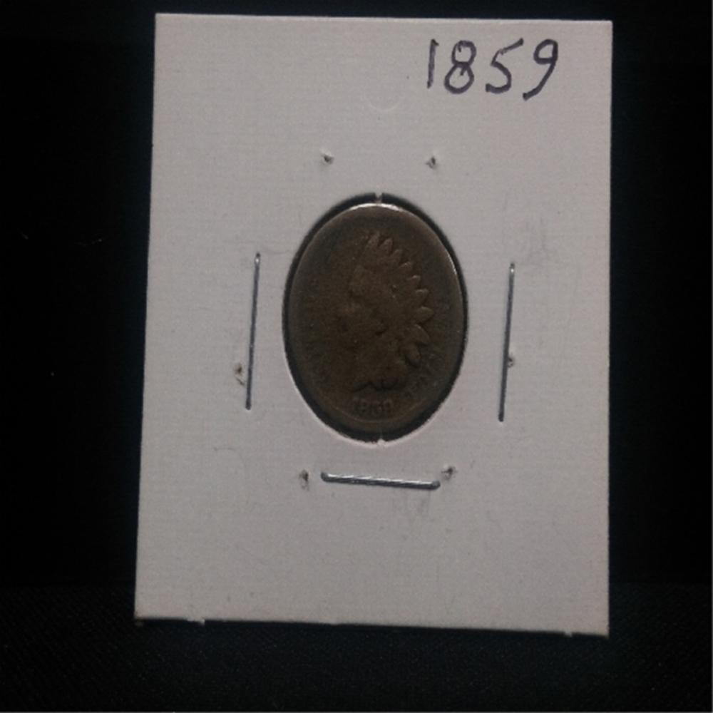 1859 Indian Head Cent Scarce/Rare 1st Date! Coin