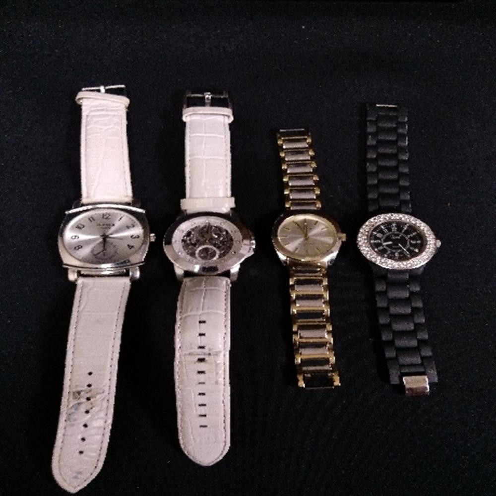 (4) Large Womens Wrist Watches