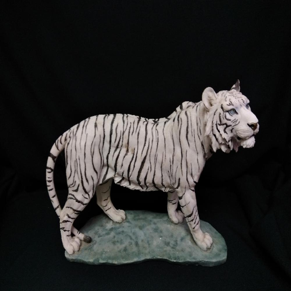 Large White Tiger Figurine Statue