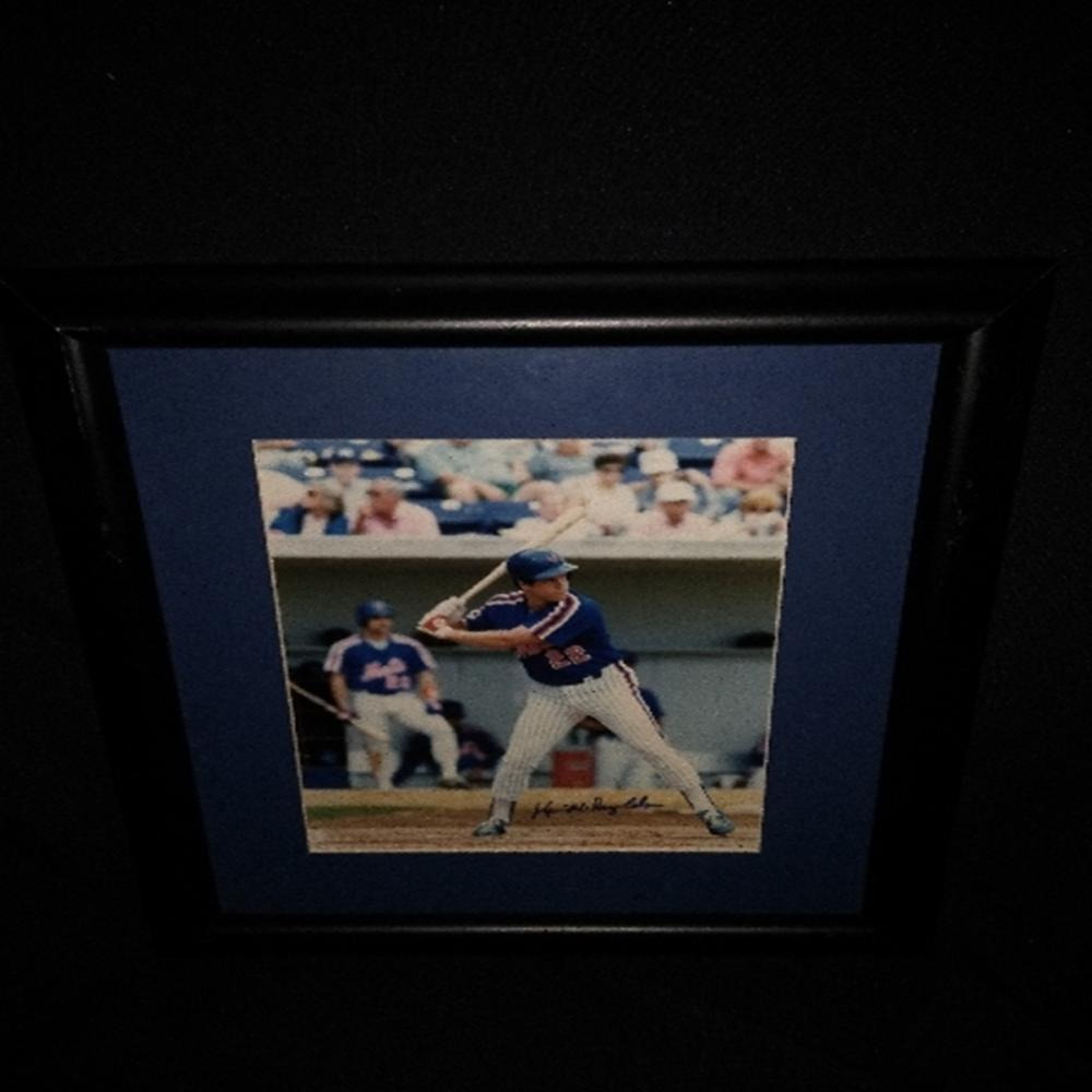 Signed/Framed NY Mets Kevin McReynolds Photograph