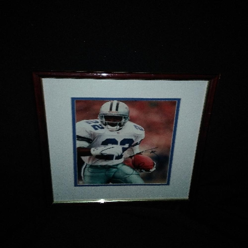 Signed/Framed Emmitt Smith Photograph
