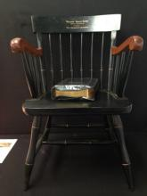 Nichols & Stone 1990's Windsor Chair w/Bible.