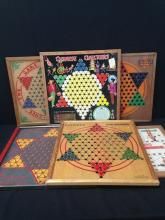 Lot of (6) Vintage Chinese Checkers Boards.