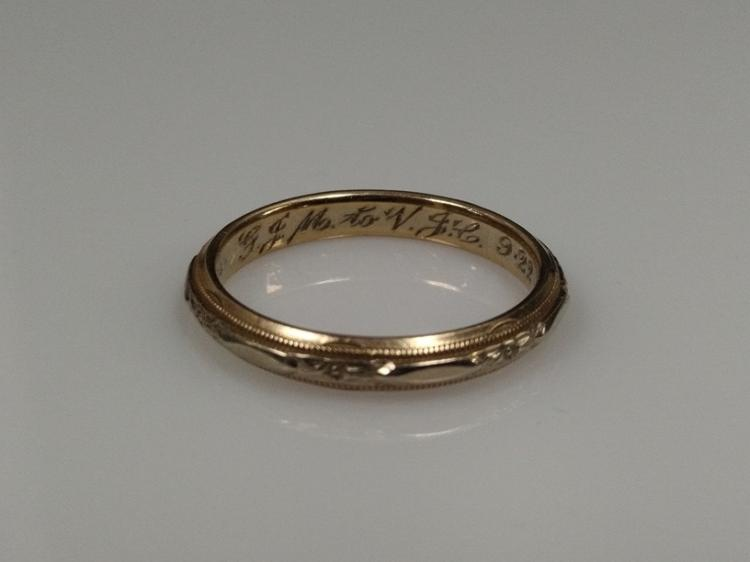 Inscribed wedding bands