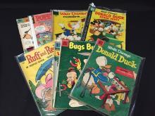 (9) Vintage Dell comics Bugs Bunny Walt Disney +