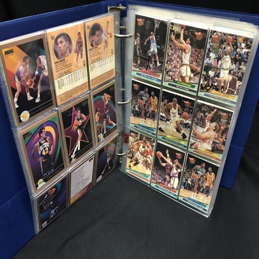 Binder Full of Over 600 NBA Basketball Cards
