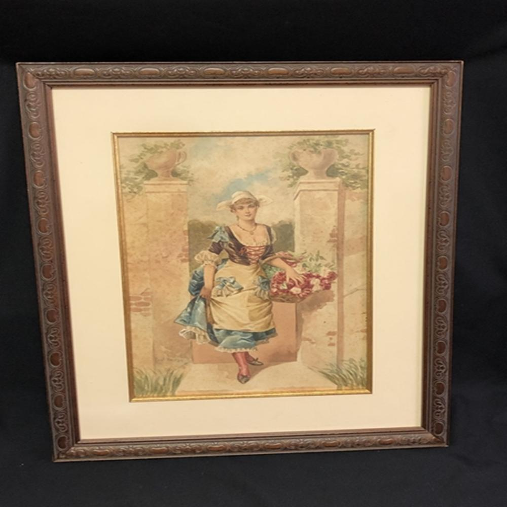 Original Watercolor Signed Paul Thomas