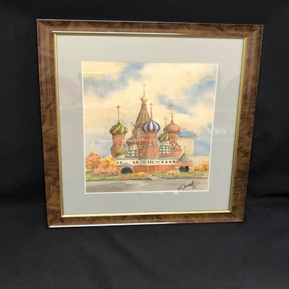 Original Russian Watercolor Painting