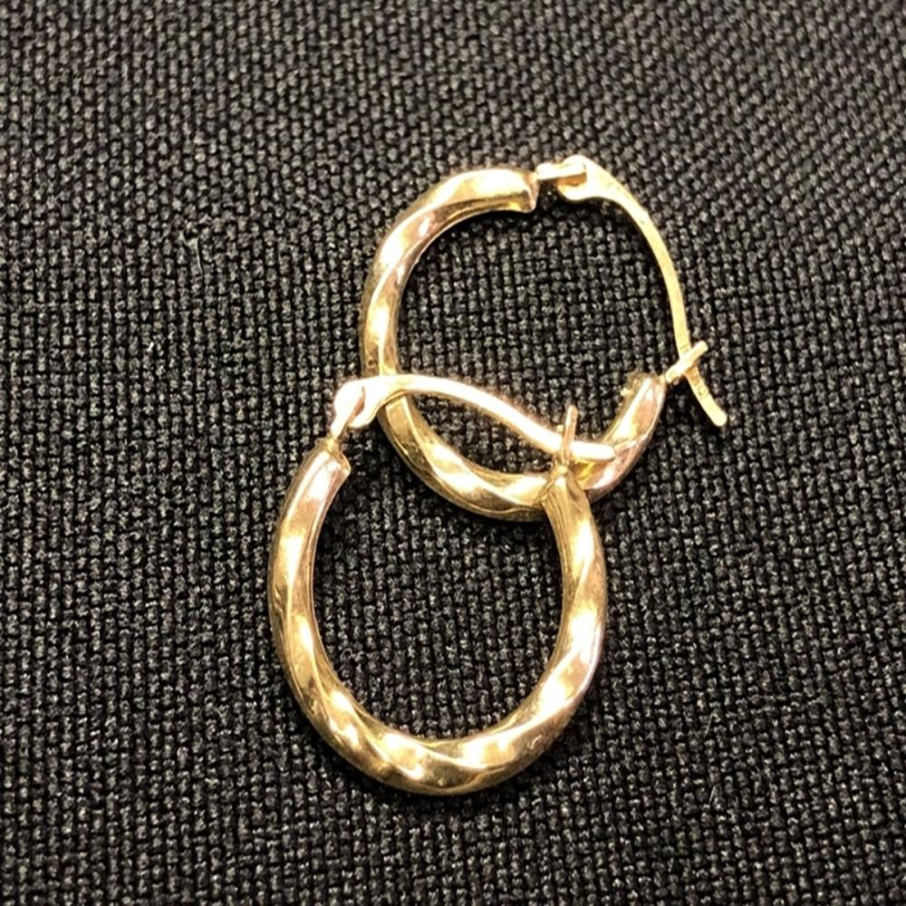 14 Karat Yellow Gold Child's Hoop Earrings
