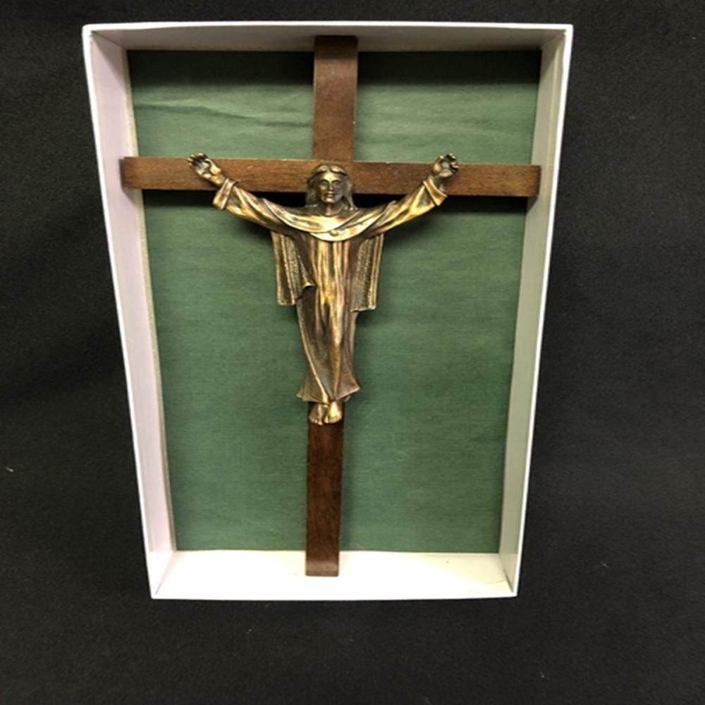 "12"" Metal and Wood Crucifix Cross"