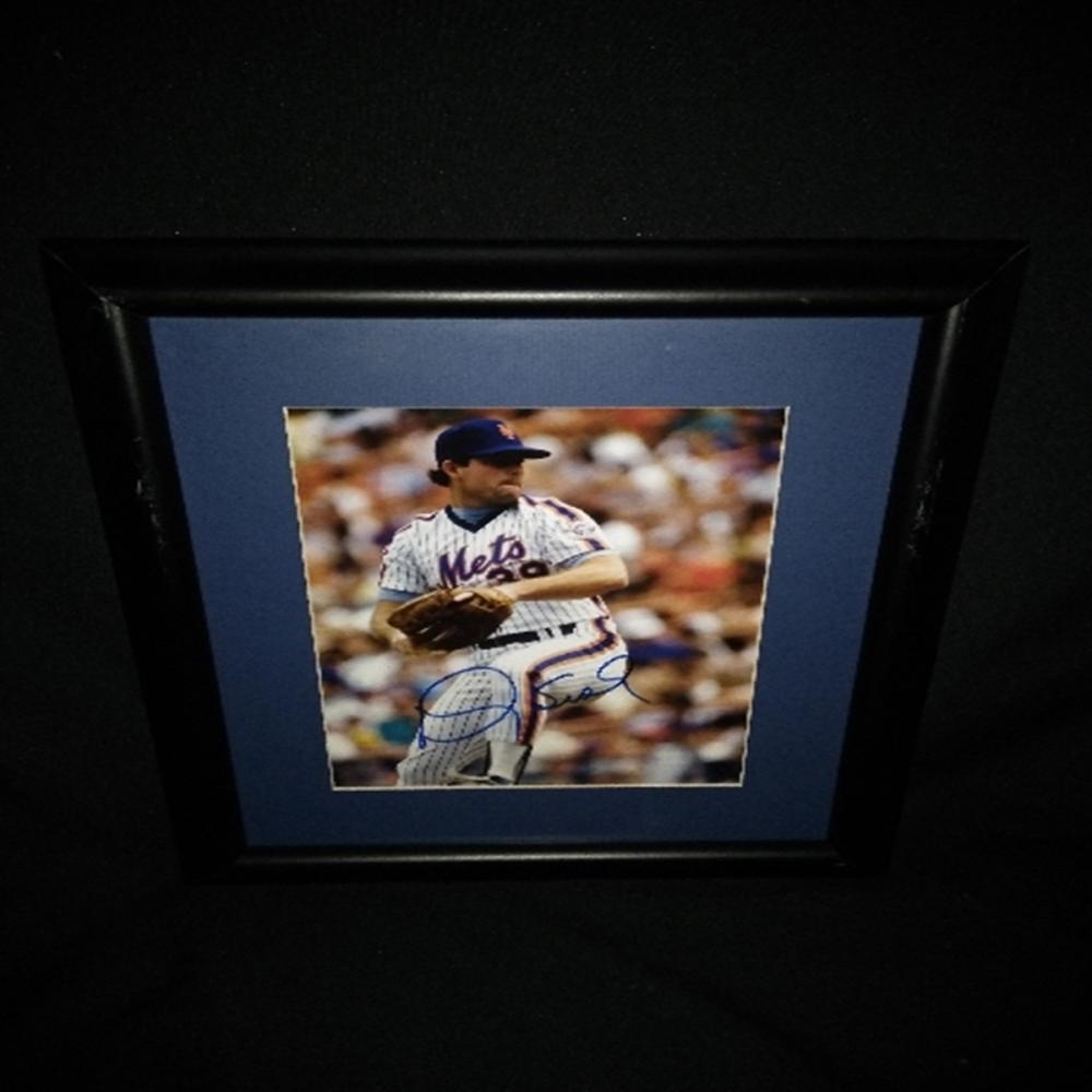 Signed/Framed NY Mets Doug Sisk Photograph Doug Si