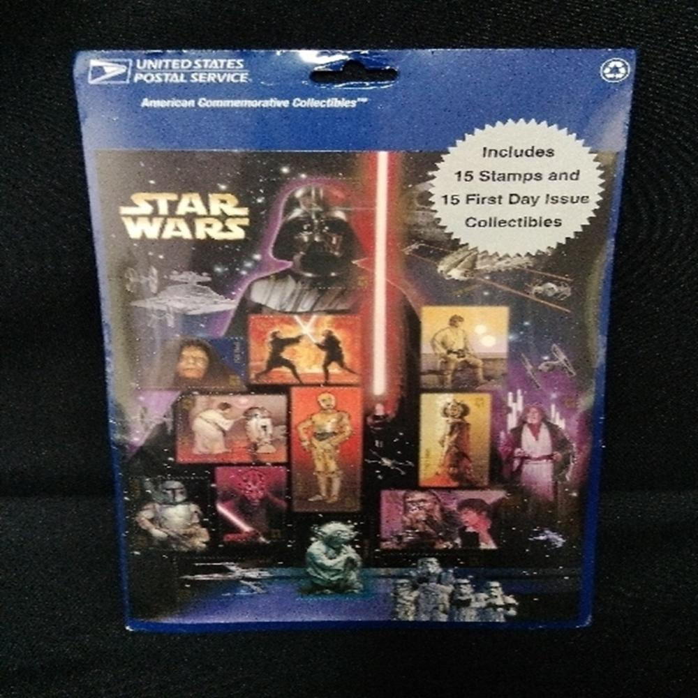 Star Wars Saga USPS Commemorative 15 Stamps FDI Yo