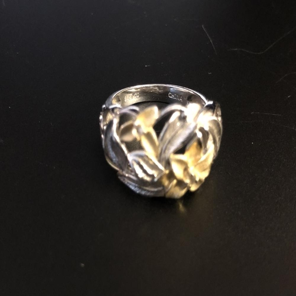 Bi-Color Sterling Silver & Citrine Lily Ring