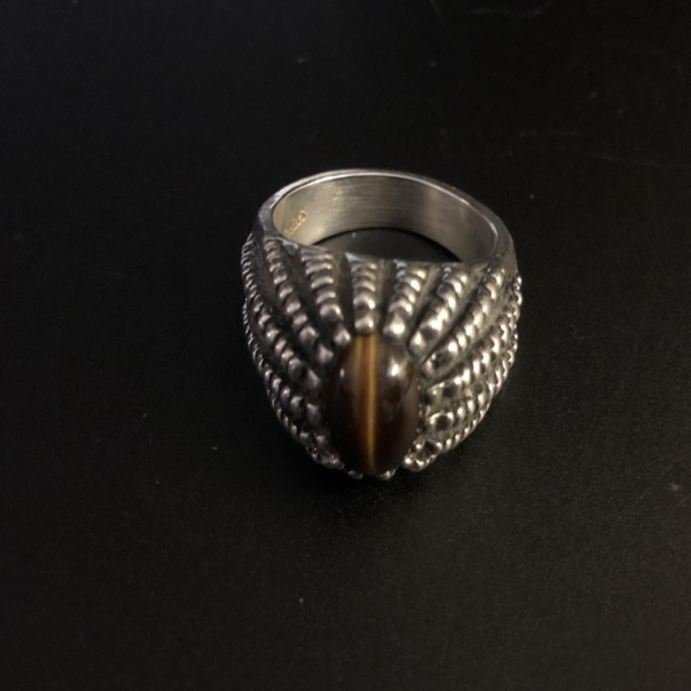 Tiger's Eye and Sterling Silver Ring