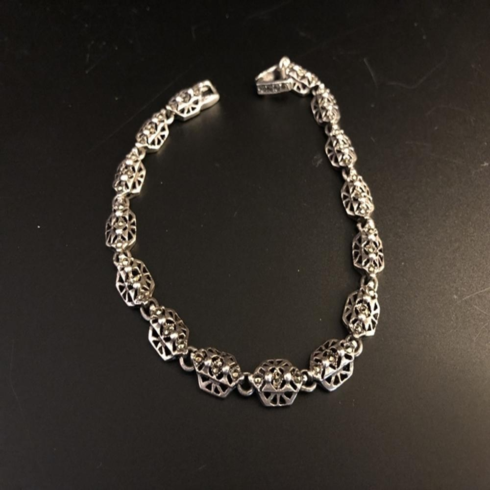 Sterling Silver and Spinel Accent Bracelet