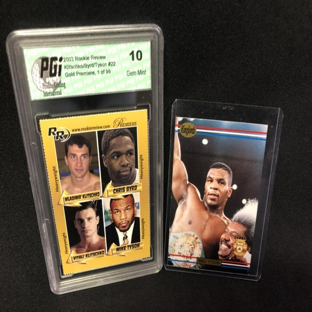 RARE 2002 Rookie Review Tyson/Klitschko Gold GEM10