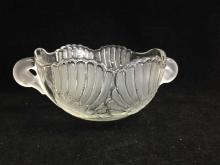 Vintage Walther Glas West German Crystal Swan Bowl with Handles.