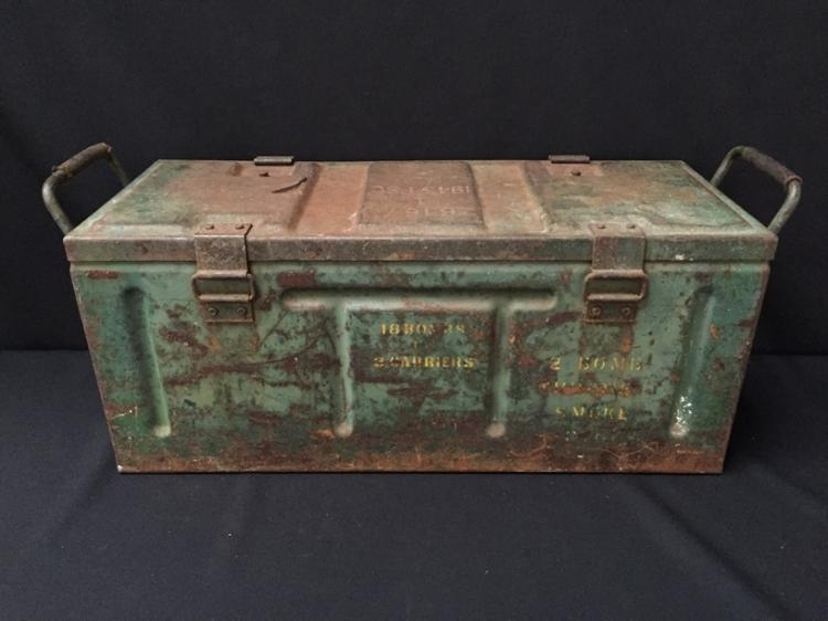 Vintage British B167 1943 Fsc Ammo Box