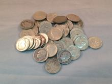 Lot of (45) Roosevelt Silver Dimes