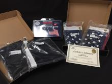 Lot of (3) Flags Old Glory and POW MIA