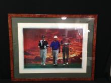 Frame Gold Poster Signed Tom Watson, Mark Brooks,