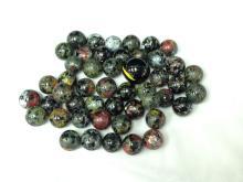 Vintage Black Glass Marbles Lot.