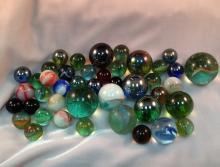 Lot (32) Vintage Glass Marbles.