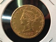 1897 $10 Liberty Head Gold Coin