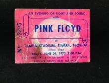 RARE ALERT!!! Pink Floyd Concert Ticket 1973