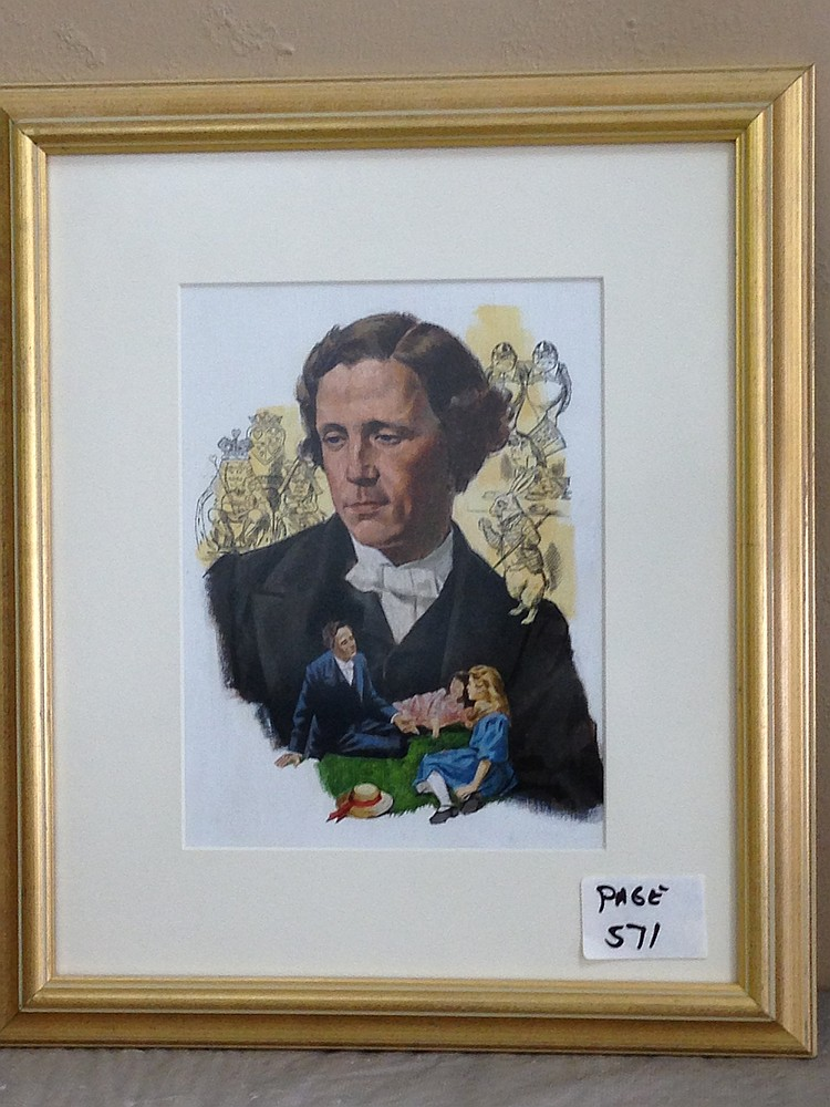 Lot 105: Framed Illustration Portrait from Reader's Digest ?Great Lives Great Deeds? 1964