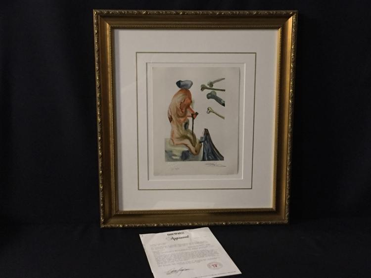 salvador dali hand signed albaretto collection. Black Bedroom Furniture Sets. Home Design Ideas