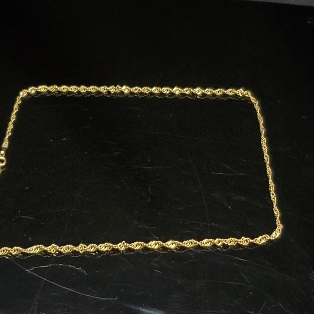 14 Karat Yellow Gold Rope Chain