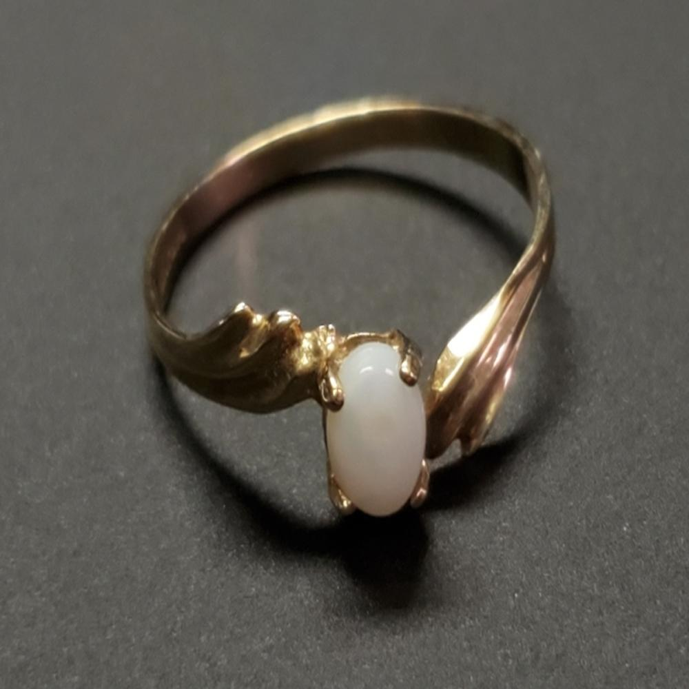 10 Karat Yellow Gold Fire Opal Ring