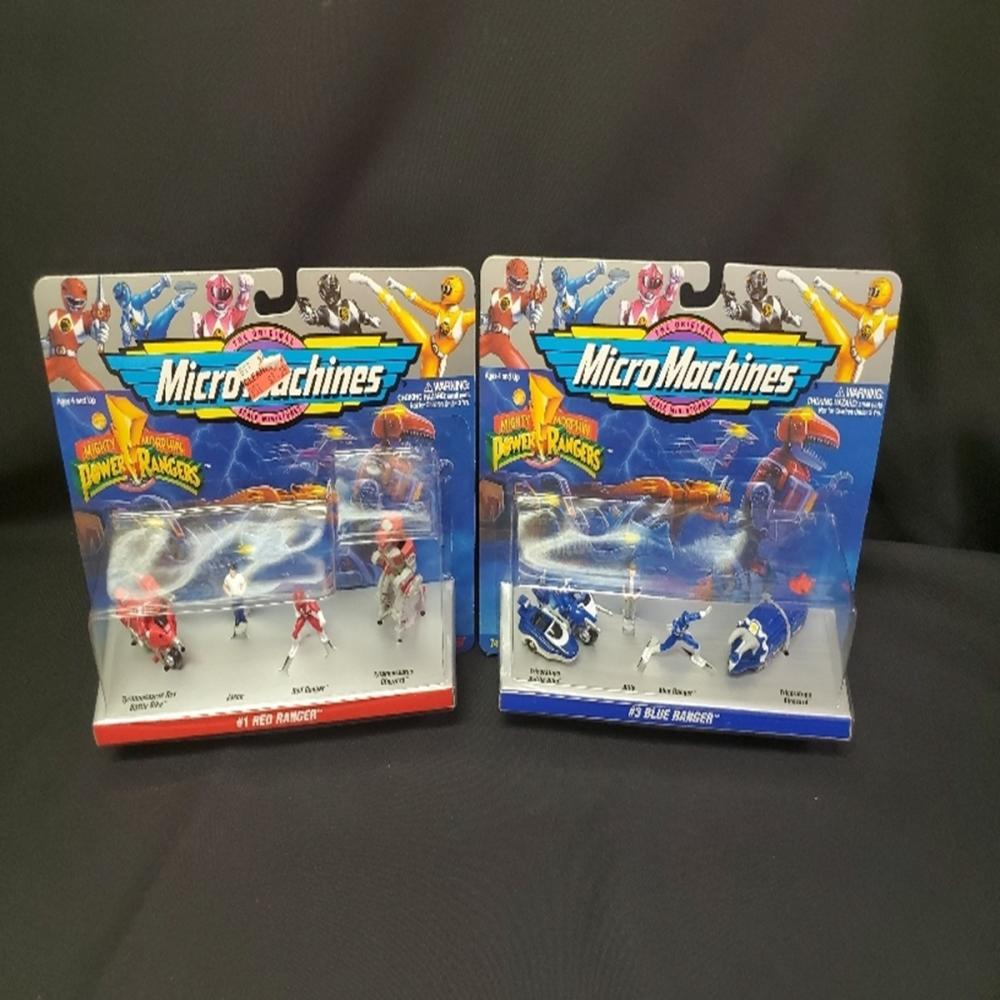 (2) Mighty Morphin Power Rangers Micro Machines