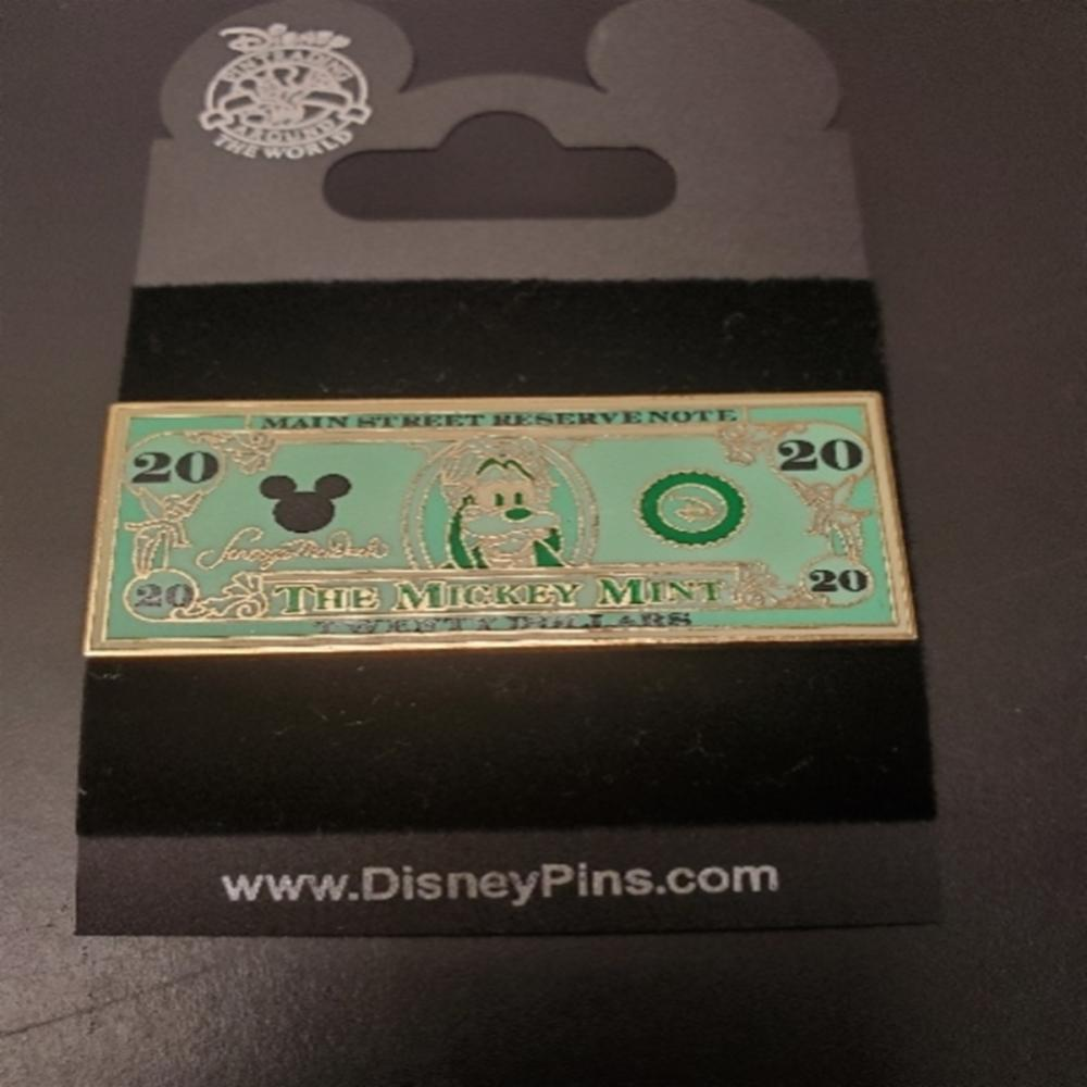 WDW DISNEY PIN THE MICKEY MINT - $20 DOLLAR BILL
