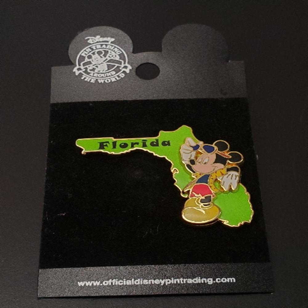 WDW Disney State Series Florida Mickey Mouse Pin