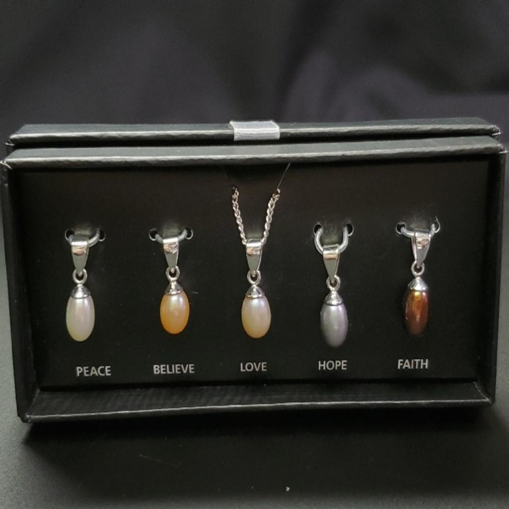 NVC Interchangeable Cultured Pearl Necklace Set