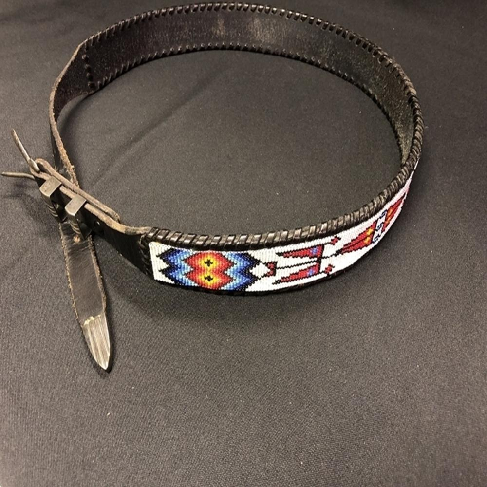 Native American Ray Adakai Sterling/Bead Belt