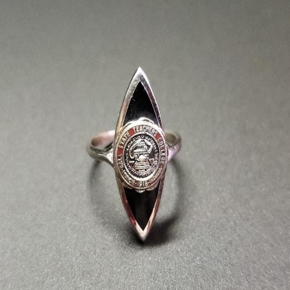Vintage Sterling Ball State Teachers College Ring