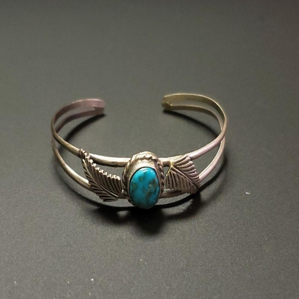 Turquoise and Silver Child's Bracelet