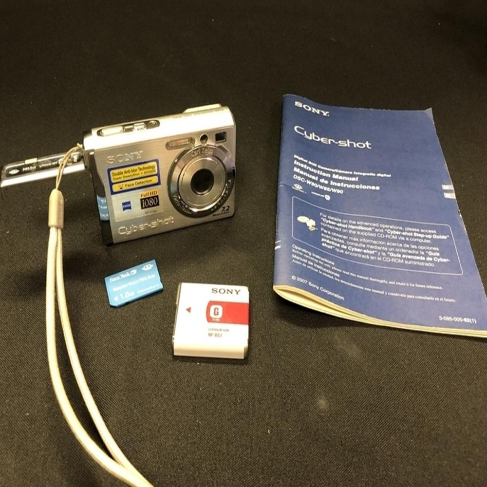 Sony Cybershot DSC-W55 7.2 MP Silver Camera