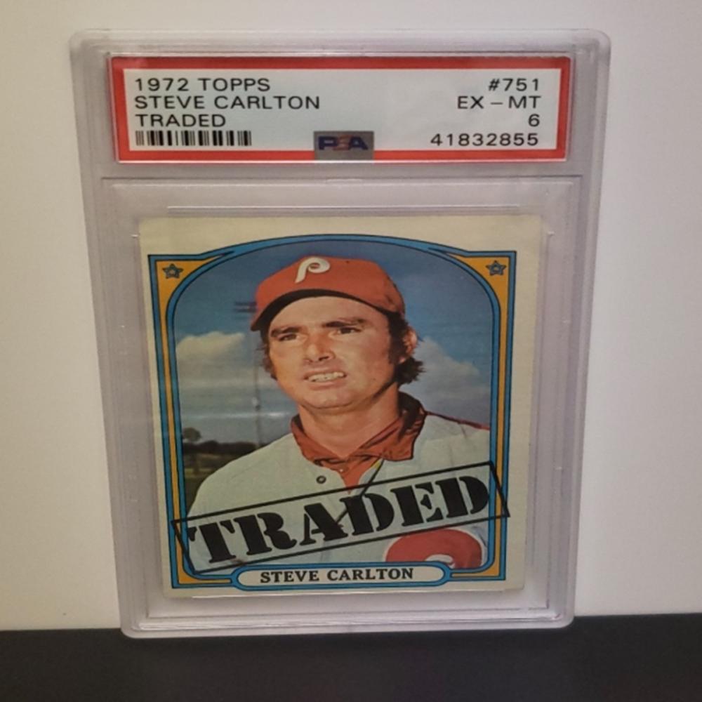 1972 Topps #751 Steve Carlton EX-MT 6 Graded Card