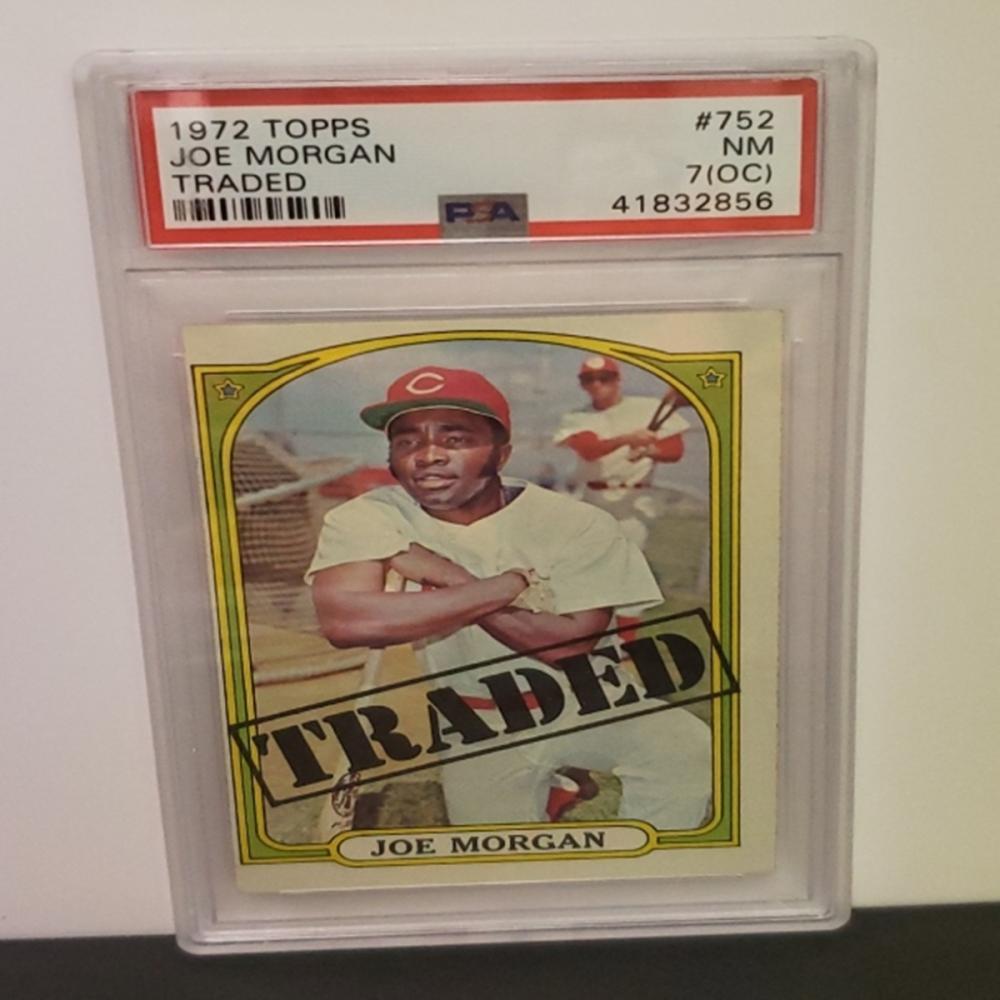 Lot 1: 1972 Topps #752 Joe Morgan NM 7 (OC) Graded Card