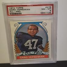 Lot 3: 1972 Topps #275 Garo Yepremian NM-MT 8 Graded Card