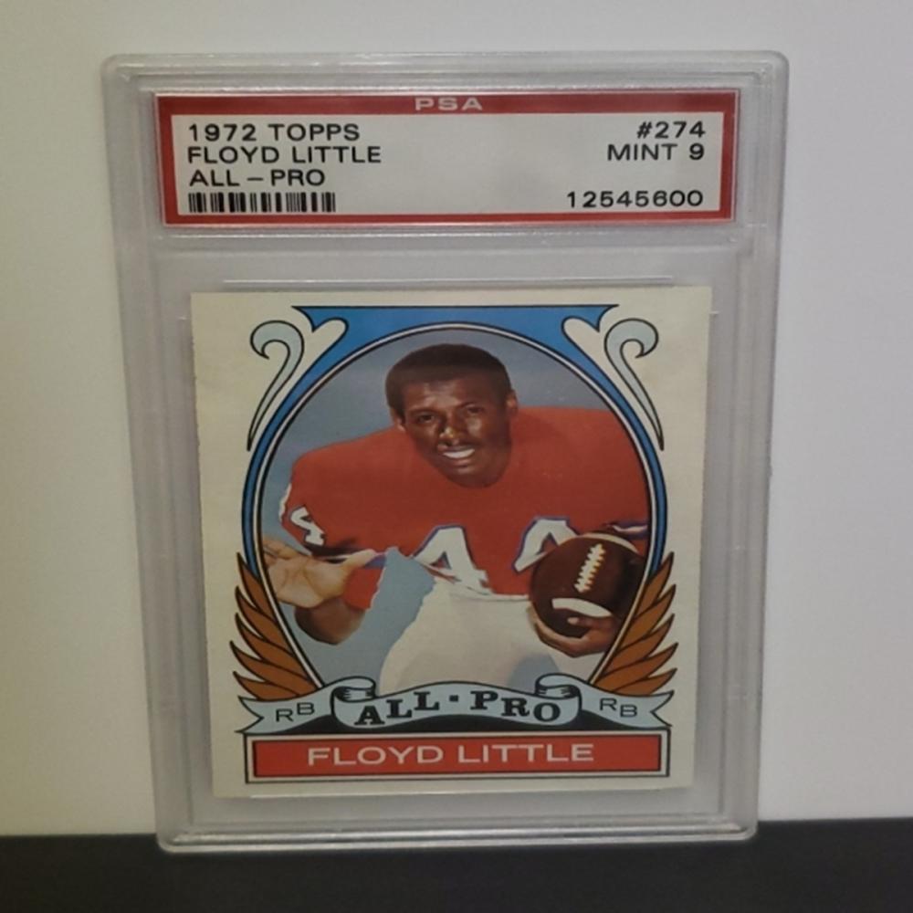 1972 Topps #274 Floyd Little Mint 9 PSA Graded