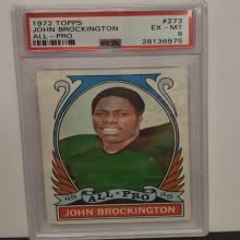 Lot 6: 1972 Topps #273 John Brockington EX-MT 6