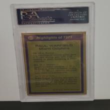 Lot 8: 1972 Topps #271 Paul Warfield Mint 9 PSA Graded