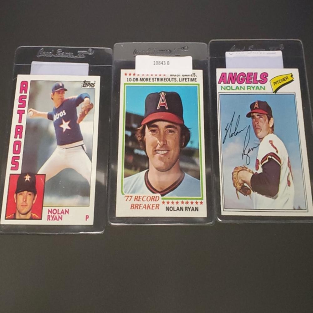 (3) Vintage Topps Nolan Ryan Cards - Ungraded