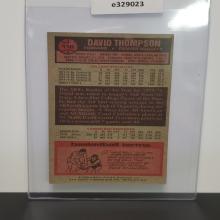 Lot 17: 1975-76 Topps David Thompson #110 Jumbo Rookie
